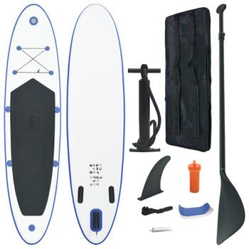 vidaXL Daska na napuhavanje za veslanje stojeći plavo-bijela