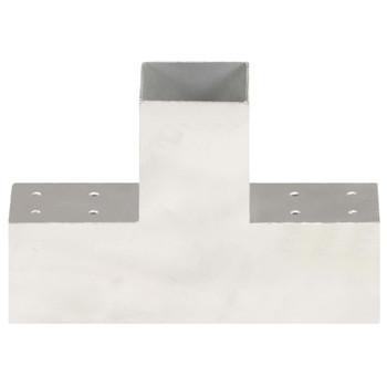 vidaXL Spojnik za stupove u T-obliku od pocinčanog metala 81 x 81 mm