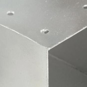vidaXL Spojnik za stupove u X-obliku od pocinčanog metala 91 x 91 mm