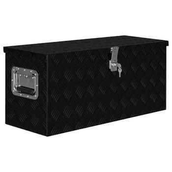 vidaXL Aluminijska kutija 80 x 30 x 35 cm crna