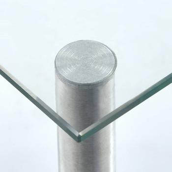 vidaXL Kuhinjske police prozirne 45 x 16 x 26 cm od kaljenog stakla