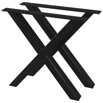 vidaXL Noge za blagovaonski stol 2 kom u obliku slova X 80 x 72 cm
