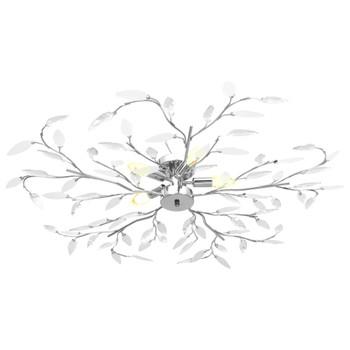 vidaXL Stropna svjetiljka s akrilnim lišćem za 5 žarulja E14 bijela