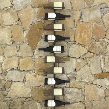 vidaXL Zidni stalak za vino za 10 boca crni metalni
