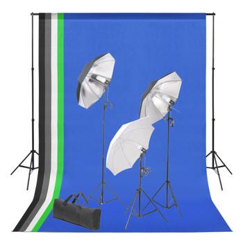 vidaXL Oprema za fotografski studio s pozadinama i setom rasvjete