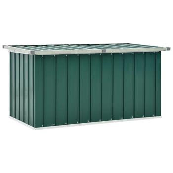 vidaXL Vrtna kutija za pohranu zelena 129 x 67 x 65 cm