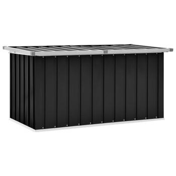 vidaXL Vrtna kutija za pohranu antracit 129 x 67 x 65 cm