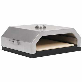 vidaXL Pećnica za pizzu s keramičkim kamenom na plin ili drveni ugljen
