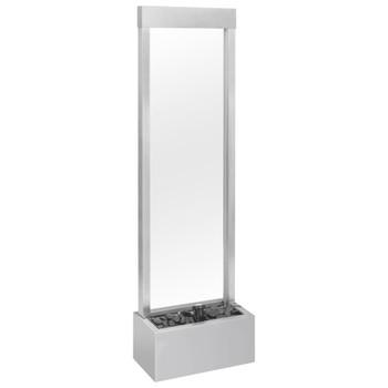 vidaXL Vrtna fontana srebrna 46 x 24 x 150 cm od nehrđajućeg čelika
