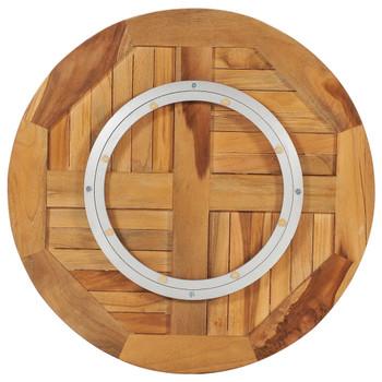 vidaXL Okretni stolni disk od masivne tikovine