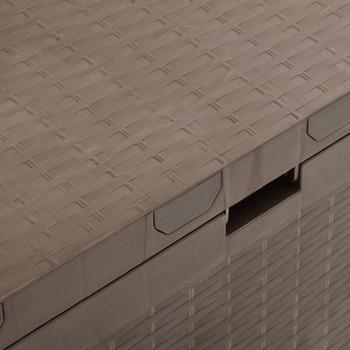 vidaXL Vrtna kutija za pohranu smeđa 114 x 47 x 60 cm