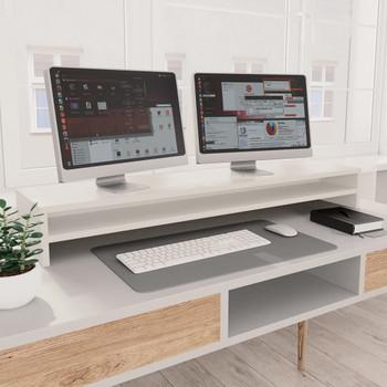vidaXL Stalak za monitor bijeli 100 x 24 x 13 cm od iverice