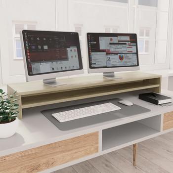 vidaXL Stalak za monitor boja hrasta sonome 100 x 24 x 13 cm iverica