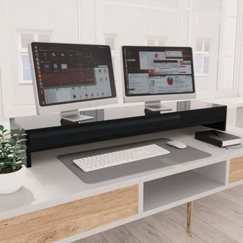 vidaXL Stalak za monitor visoki sjaj crni 100 x 24 x 13 cm od iverice