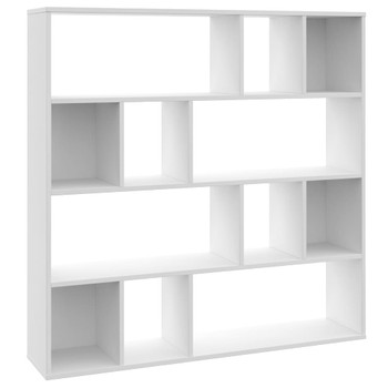 vidaXL Sobna pregrada / ormarić za knjige bijela 110x24x110 cm iverica