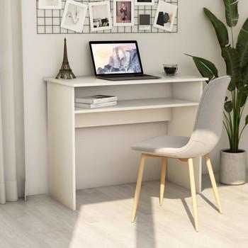 vidaXL Radni stol bijeli 90 x 50 x 74 cm od iverice