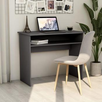 vidaXL Radni stol sivi 90 x 50 x 74 cm od iverice