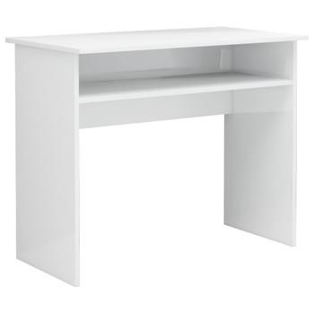 vidaXL Radni stol visoki sjaj bijeli 90 x 50 x 74 cm od iverice