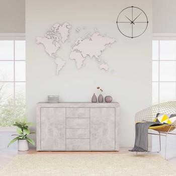 vidaXL Komoda siva boja betona 120 x 36 x 69 cm od iverice