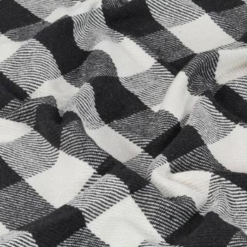 vidaXL Pamučni pokrivač karirani 220 x 250 cm antracit