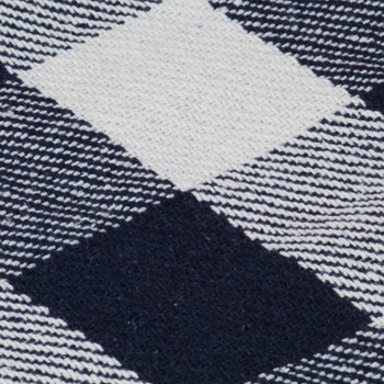 vidaXL Pamučni pokrivač karirani 125 x 150 cm mornarsko plavi