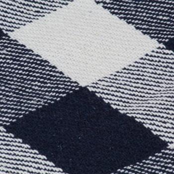 vidaXL Pamučni pokrivač karirani 160 x 210 cm mornarsko plavi