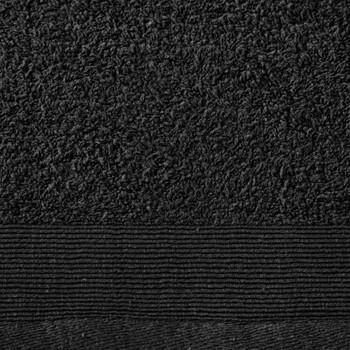 vidaXL Ručnici za tuširanje 5 kom pamučni 450 gsm 70 x 140 cm crni