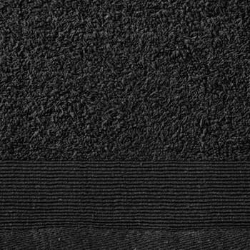 vidaXL Ručnici za saunu 5 kom pamučni 450 gsm 80 x 200 cm crni