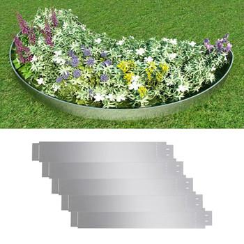 Set od 5 fleksibilnih vrtnih ogradica od pocinčanog čelika, 100x15cm