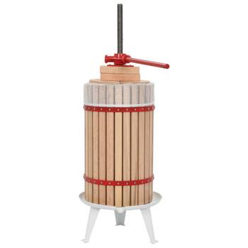 vidaXL Preša za voće i vino od hrastovine s platnenom vrećom 30 L