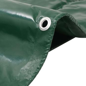 vidaXL Cerada 650 g/m² 5 x 6 m zelena