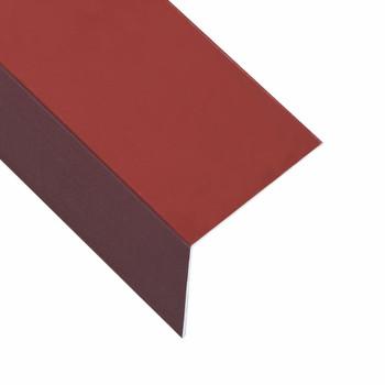 vidaXL Kutni profili od 90° 5 kom aluminijski crveni 170 cm 100x100 mm
