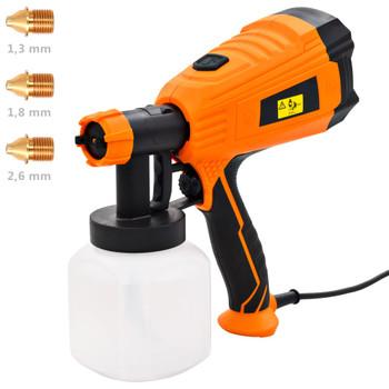 vidaXL Električni pištolj za prskanje boje s 3 mlaznice 500 W 800 ml