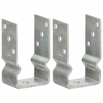 vidaXL Sidra za ogradu 2 kom srebrna 8 x 6 x 15 cm pocinčani čelik