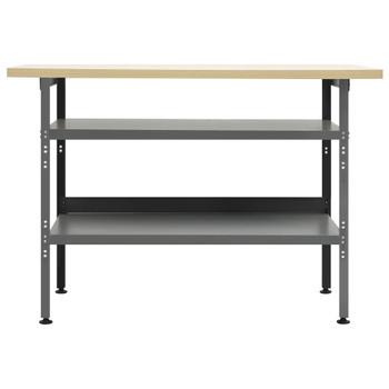 vidaXL Radni stol sivi 120 x 60 x 85 cm čelični