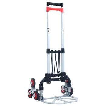 vidaXL Sklopiva kolica za stepenice 70 kg aluminijska srebrna