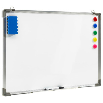 vidaXL Magnetna ploča sa suhim brisanjem bijela 90 x 60 cm čelična