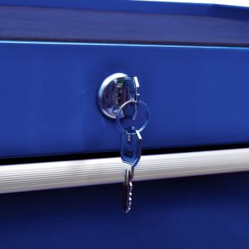 vidaXL Kolica za alat za radionicu sa 7 ladica plava