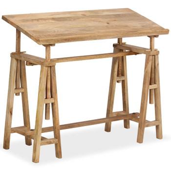 vidaXL Stol za crtanje od masivnog drva manga 116 x 50 x 76 cm