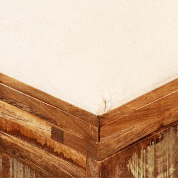 vidaXL Klupa za pohranu od masivnog obnovljenog drva 80x40x40 cm