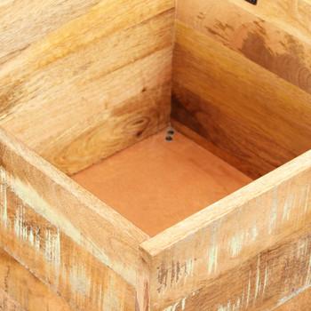 vidaXL Klupa za pohranu od masivnog obnovljenog drva 40 x 40 x 45 cm