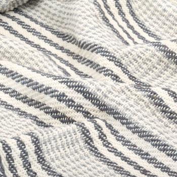 vidaXL Pamučni pokrivač na pruge 220x250 cm sivo bijeli