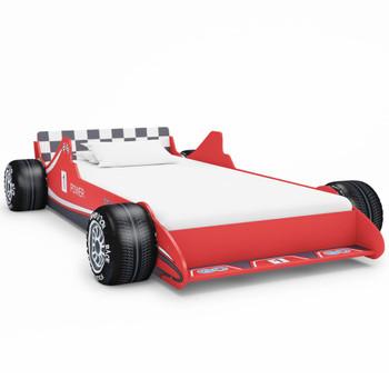 vidaXL Dječji krevet trkaći auto 90 x 200 cm crveni