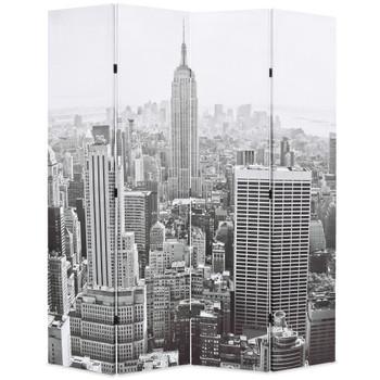 vidaXL Sklopiva sobna pregrada sa slikom New Yorka danju 160 x 170 cm