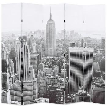 vidaXL Sklopiva sobna pregrada sa slikom New Yorka danju 200 x 170 cm