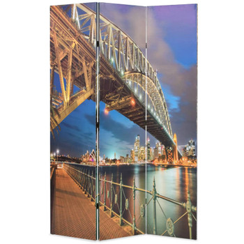 vidaXL Sklopiva sobna pregrada 120 x 170 cm sydneyski lučki most