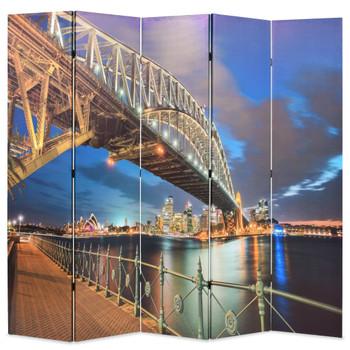 vidaXL Sklopiva sobna pregrada 200 x 170 cm sydneyski lučki most