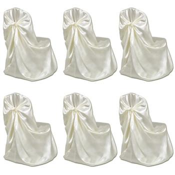 vidaXL Navlaka za stolice za svadbeni banket 12 kom krem