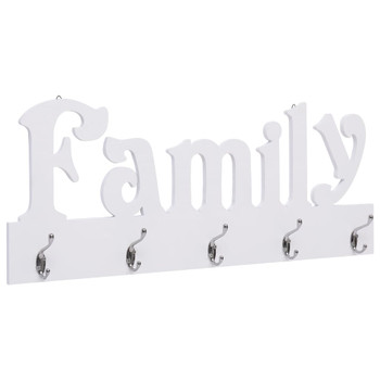 vidaXL Zidna vješalica za kapute FAMILY 74 x 29,5 cm