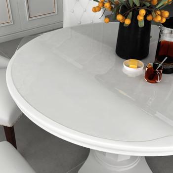 vidaXL Zaštita za stol prozirna Ø 80 cm 2 mm PVC